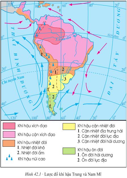 Bài 42. Thiên nhiên Trung và Nam Mĩ (tt)