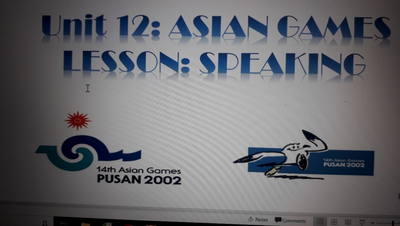Unit 12: Asian Games- lesson: speaking