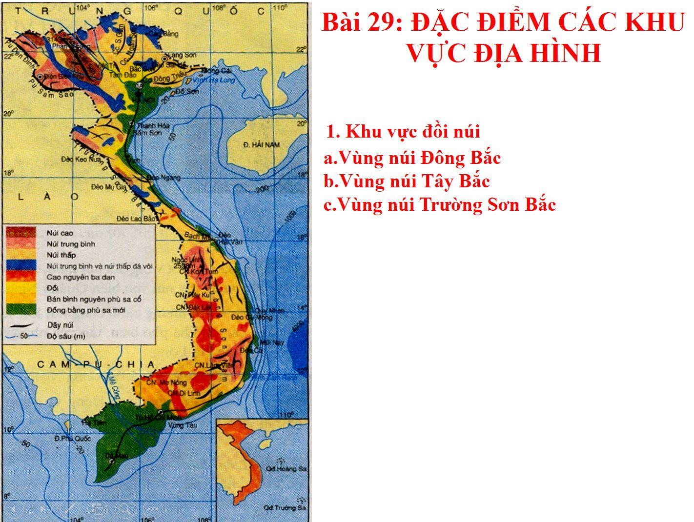 Bài 29: Đặc điểm các khu vực địa hình_THCS Bình Hòa Tây_Mộc Hóa