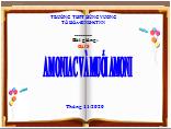bài 8- hóa 11- amoniac và muối amoni