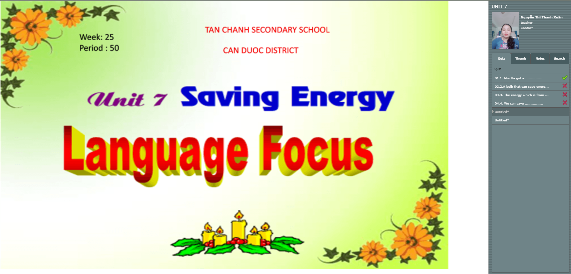 Unit 7: Saving Energy- Language focus