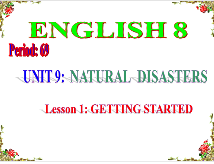 unit 9 Natural disasters