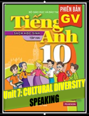 Unit 7. Culture Diversity Speaking_THPT An Ninh_Đức Hòa