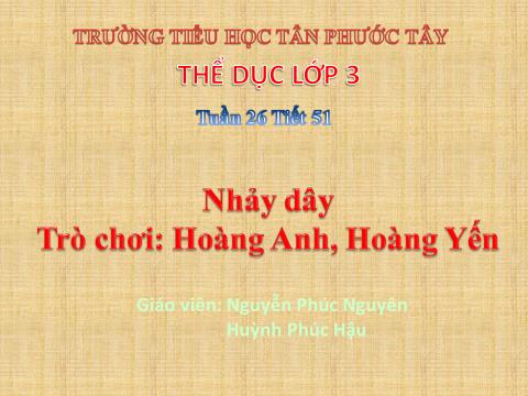 Nhảy dây - Trò chơi: Hoàng Anh, Hoàng Yến