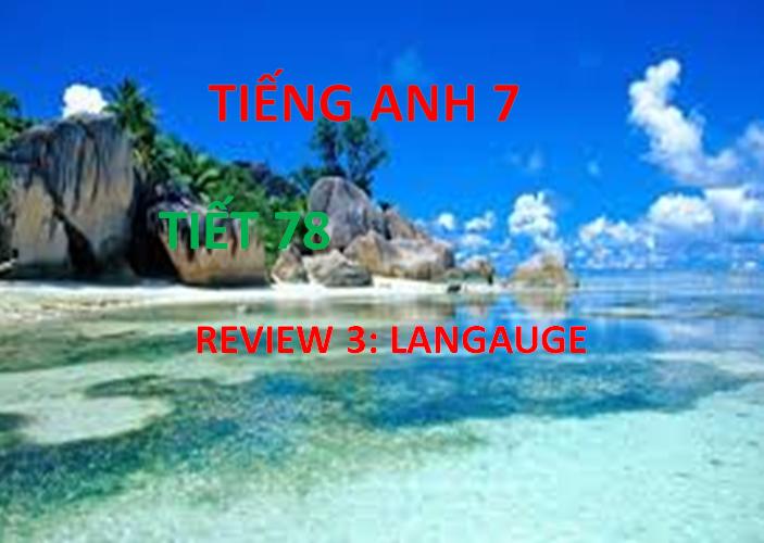 REVIEW 3: LANGUAGE (PERIOD 78)