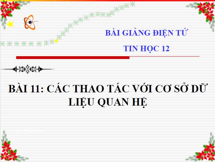 Bài 11-Tin 12-THPT Tan An