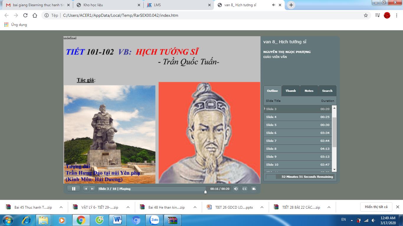 NGỮ VĂN 8_Tuần 26_tiết 101,102_Hịch tướng sĩ_TRƯỜNG THCS LÊ ĐẠI ĐƯỜNG_TÂN TRỤ